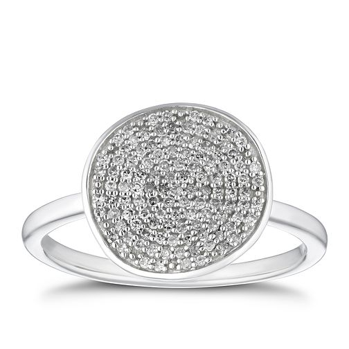 Sterling Silver 1/5ct Diamond Disc Ring - Product number 4264770