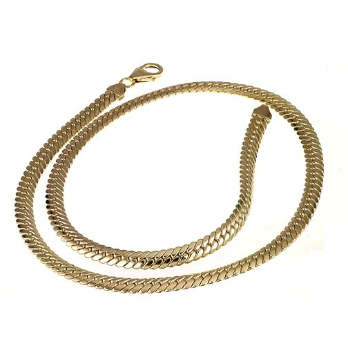 "9ct Yellow Gold Herringbone 18"" Necklace - Product number 4265432"
