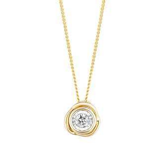 9ct Yellow Gold Diamond Knot Pendant - Product number 4266579