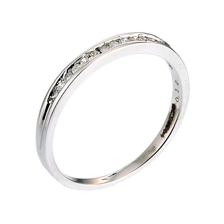 9ct White Gold 1 10 Carat Diamond Eternity Ring