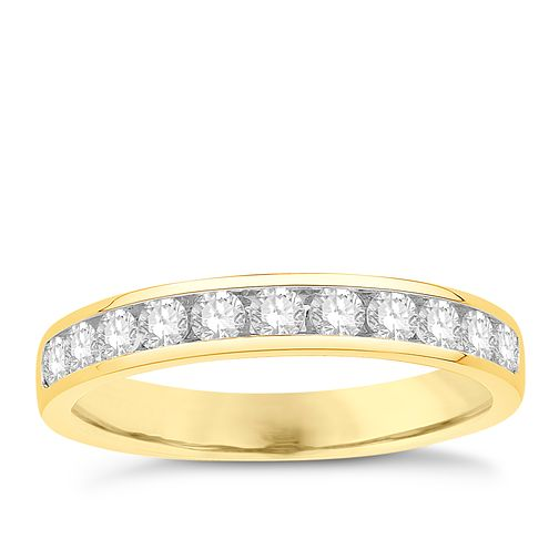 Eternal Brilliance 18ct Yellow Gold 0.50ct Wedding Ring - Product number 4268024