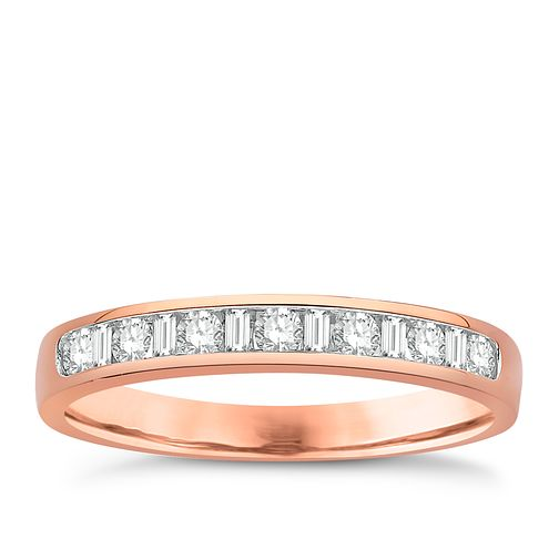 Eternal Brilliance 18ct Rose Gold 0.25ct Wedding Ring - Product number 4268474