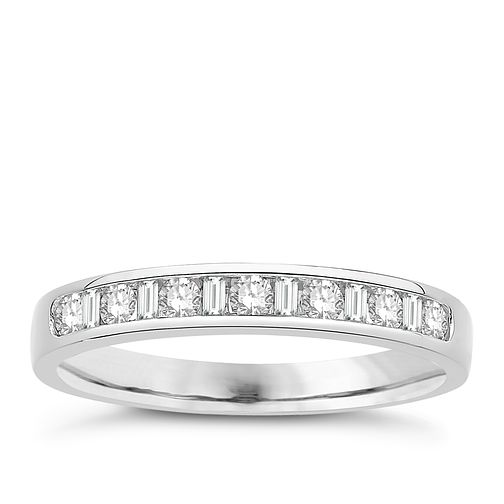 Eternal Brilliance 18ct White Gold 0.25ct Wedding Ring - Product number 4269543