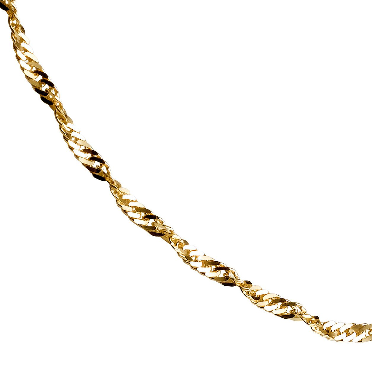 9ct Gold Twist Curb Chain Necklace - Product number 4271777