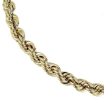 9ct Yellow Gold 7.25 Inch Rope Chain Bracelet - Product number 4271793