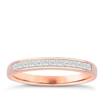 Eternal Brilliance 18ct Rose Gold 0.25ct Wedding Ring - Product number 4273850