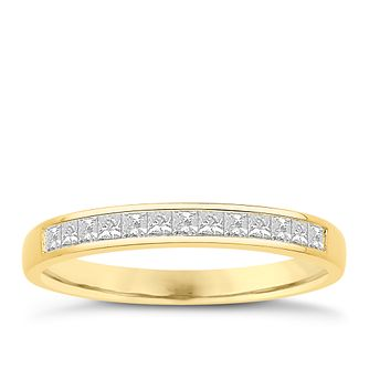 Eternal Brilliance 18ct Yellow Gold 0.25ct Wedding Ring - Product number 4275454