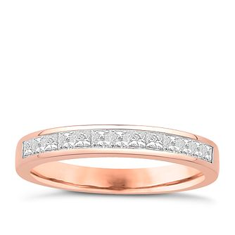 Eternal Brilliance 18ct Rose Gold 0.50ct Wedding Ring - Product number 4277376