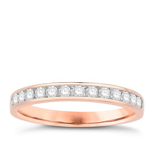 Eternal Brilliance 18ct Rose Gold 0.25ct Wedding Ring - Product number 4278089