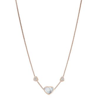 Chopard Happy Hearts 18ct Rose Gold & Diamond Necklace - Product number 4278798