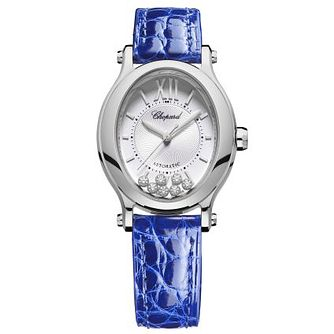 Chopard Happy Sport Ladies' Blue Leather Strap Watch - Product number 4278836