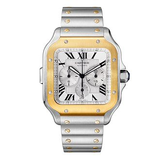 Cartier Santos de Cartier Men's Two Tone Bracelet Watch - Product number 4279506