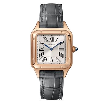 Cartier Santos Dumont Ladies' Black Leather Strap Watch - Product number 4279603