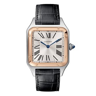 Cartier Santos Dumont Men's Black Leather Strap Watch - Product number 4279638