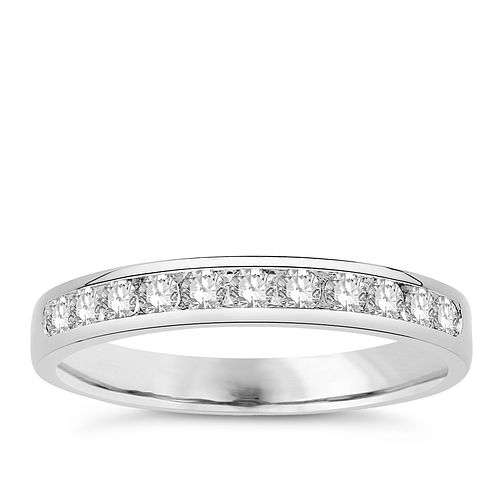Eternal Brilliance 18ct White Gold 0.33ct Wedding Ring - Product number 4279700