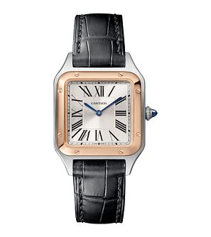 Cartier Santos Dumont Ladies' Black Leather Strap Watch - Product number 4279867