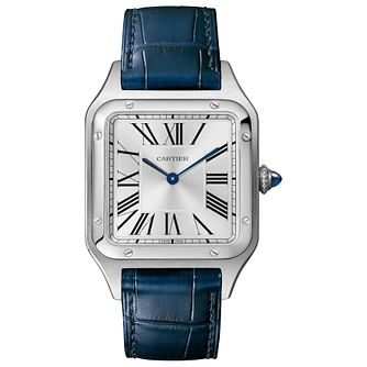 Cartier Santos Dumont Men's Blue Leather Strap Watch - Product number 4279875