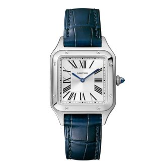 Cartier Santos Dumont Ladies' Blue Leather Strap Watch - Product number 4279883