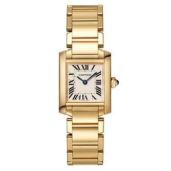 Cartier Tank Francais Ladies Yellow Gold Bracelet Watch - Product number 4279913