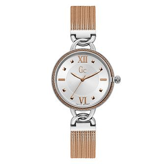 Gc CableTwist Ladies' Two Tone Bracelet Watch - Product number 4280555