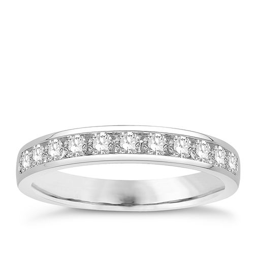 Eternal Brilliance 18ct White Gold 0.50ct Wedding Ring - Product number 4280776