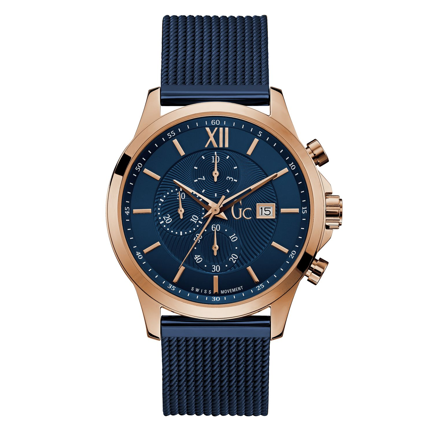 Gc Executive Men's Blue Stainless Steel Cable Bracelet Watch - Product number 4280822