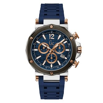 Gc Spirit Men's Blue Silicone Strap Watch - Product number 4280873