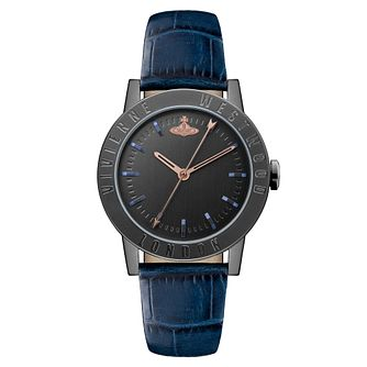 Vivienne Westwood Warwick Ladies' Blue Leather Strap Watch - Product number 4281713