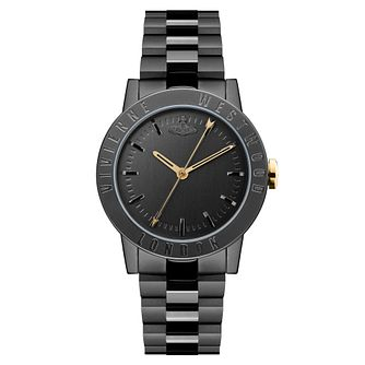 Vivienne Westwood Warwick Ladies' Black Ip Bracelet Watch - Product number 4281918