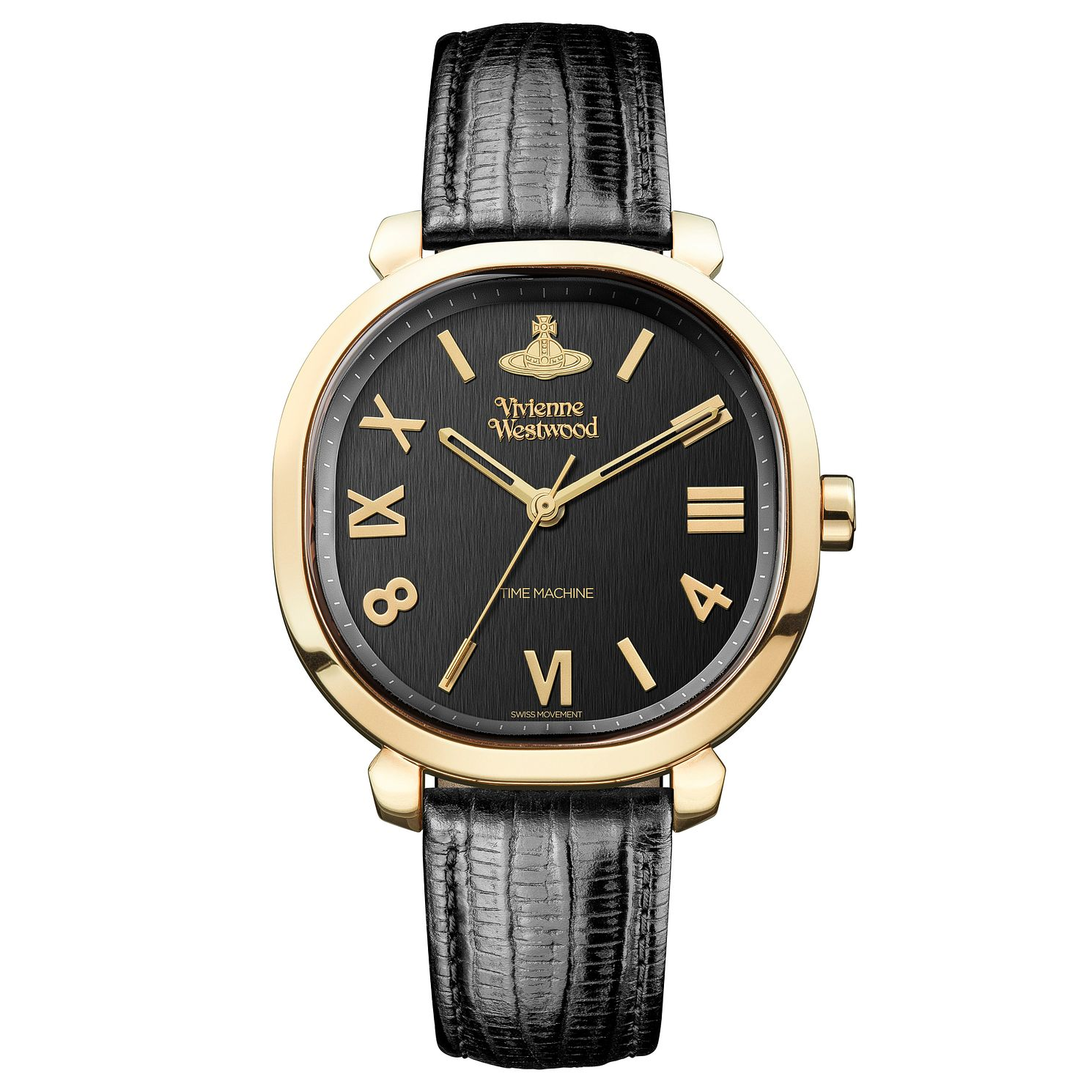 Vivienne Westwood Mayfair Ladies' Black Leather Strap Watch - Product number 4281926