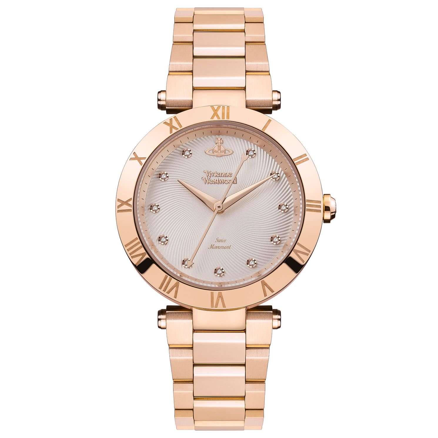 Vivienne Westwood Montagu Rose Gold Plated Bracelet Watch - Product number 4281985