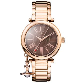 Vivienne Westwood Mother Orb Rose Gold Plated Bracelet Watch - Product number 4281993