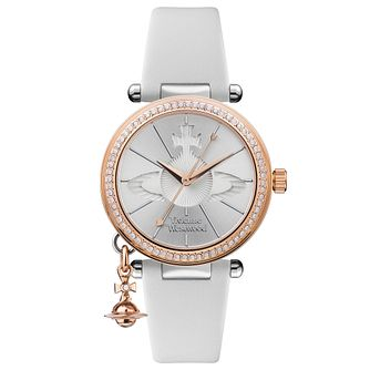 Vivienne Westwood Orb Pastelle White Leather Strap Watch - Product number 4282043