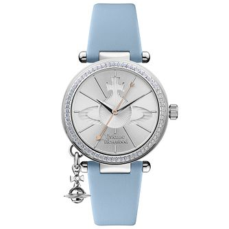 Vivienne Westwood Orb Pastelle Blue Leather Strap Watch - Product number 4282078