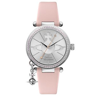 Vivienne Westwood Orb Pastelle Pink Leather Strap Watch - Product number 4282094