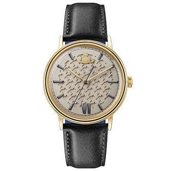 Vivienne Westwood Turnmill Men's Black Leather Strap Watch - Product number 4282132