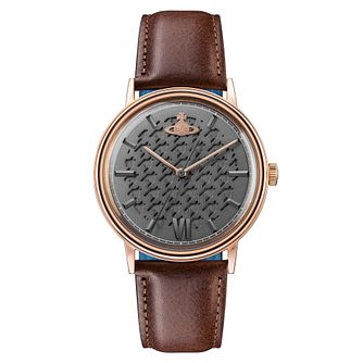 Vivienne Westwood Turnmill Men's Brown Leather Strap Watch - Product number 4282183