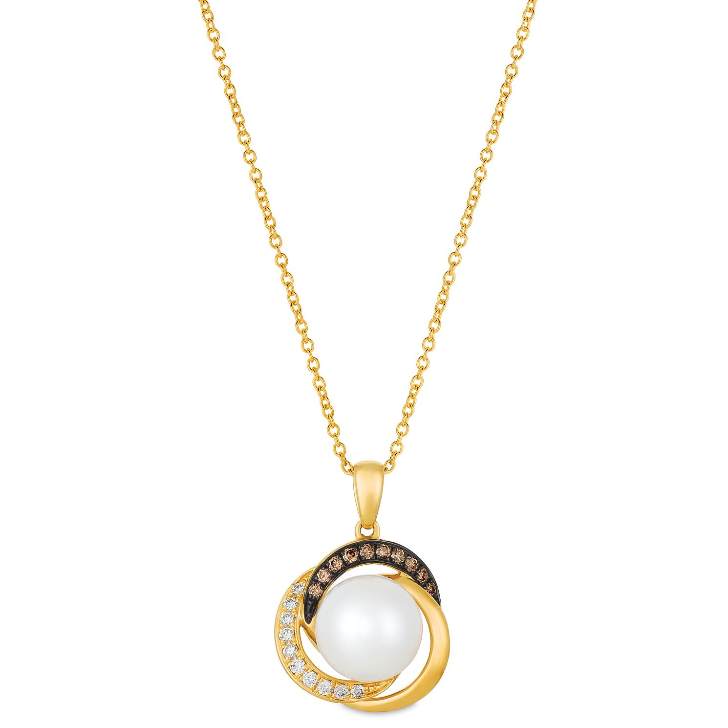 Le Vian 14ct Honey Gold Pearl & Chocolate Diamond Pendant - Product number 4284607