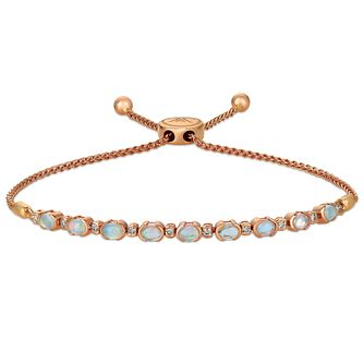 Le Vian 14ct Strawberry Gold Opal & Diamond Bolo Bracelet - Product number 4284666