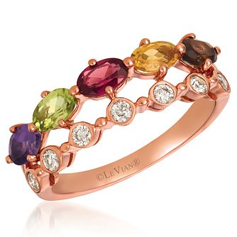 Le Vian 14ct Strawberry Gold MultiStone& 0.18ct Diamond Ring - Product number 4284771