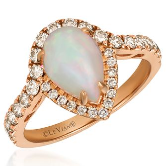 Le Vian 14ct Strawberry Gold Neopolitan Opal Diamond Ring - Product number 4287452