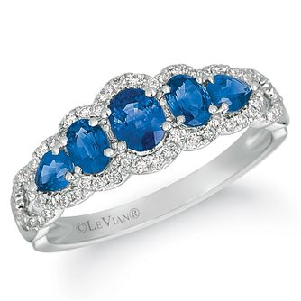 Le Vian 14ct Vanilla Gold Blueberry Sapphire & Diamond Ring - Product number 4287967