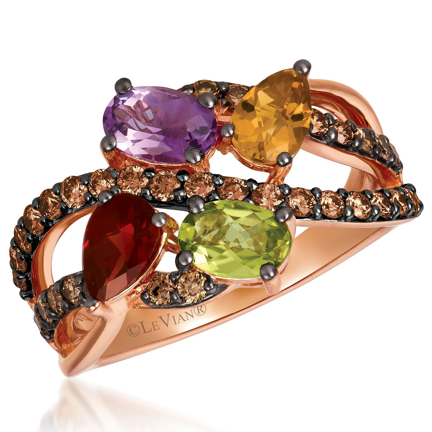Le Vian 14ct Strawberry Gold Multi Stone & Diamond Ring - Product number 4288130