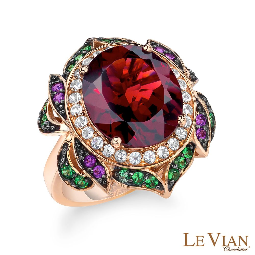Le Vian 14ct Strawberry Gold Multistone Ring - Product number 4288610