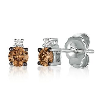 Le Vian 14ct Vanilla Gold Chocolate Diamond Stud Earrings - Product number 4288785
