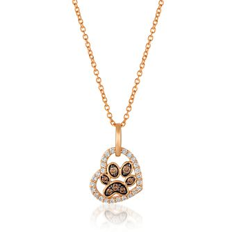 Le Vian 14ct Strawberry Gold Paw Heart Pendant - Product number 4288823