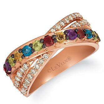 Le Vian 14ct Strawberry Gold Multi Stone & Nude Diamond Ring - Product number 4289005