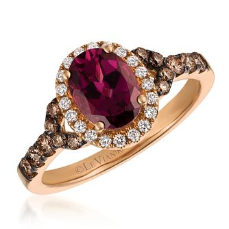 Le Vian 14ct Strawberry Gold Rhodolite & 0.37ct Diamond Ring - Product number 4289064