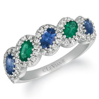 Le Vian 14ct Vanilla Gold Sapphire, Emerald & Diamond Ring - Product number 4289293