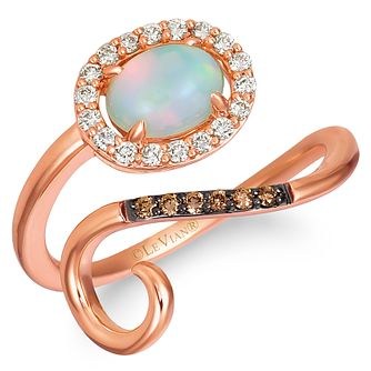 Le Vian 14ct Strawberry Gold Neopolitan Opal Diamond Ring - Product number 4289439